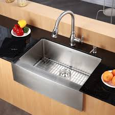 stainless farmhouse kitchen sink kitchen outstanding stainless kraus farmhouse sink single bowl with