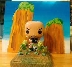 custom funko pop nappa with a stand by dstyles customs for more