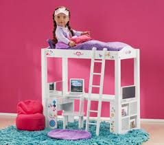 journey girls wood bed and desk combo toys
