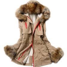 Womens Winter Coats Plus Size 2014 Women U0027s Slim With A Hood Large Fur Collar Wadded Jacket Plus