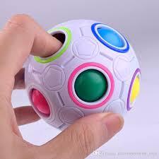 wholesale rainbow magic balls puzzles 6 sides magic cube balls