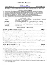 Shipping Manager Resume Marketing Manager Resume Logistics Job Sample Splixioo
