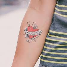 tattly designy temporary tattoos u2014 heart with no name by james
