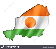 Green White Orange Flag Illustration Of Niger Flag Map