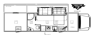 motorhome w garage floor plans showhauler motorhome conversions