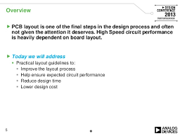 general pcb design layout guidelines high speed and rf design considerations ve2013