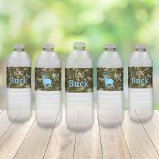 it u0027s a buck water bottle labels camouflage and blue boy baby