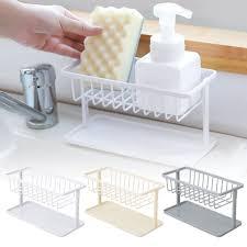 kitchen sink cabinet sponge holder sponge holder for kitchen sink eeekit kitchen sink caddy abs plastic kitchen sink sponge brush holder organizer for soap dishwashing liquid drainer
