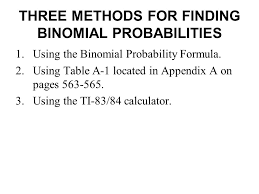 Binomial Probabilities Table Binomial Probability Distribution Ppt Video Online Download