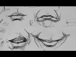pen u0026 ink drawing tutorials how to draw realistic mouth