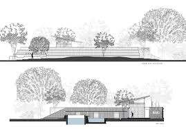 road plan and site elevation picture plan for brick kiln house