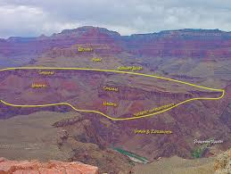 Map Of Grand Canyon Grand Canyon South Rim And Bright Angel Trail Roc Doc Travel