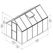 Palram Lean To Greenhouse Palram Mythos 6x10 Hobby Greenhouse Kit Palram Greenhouse Store
