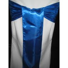 royal blue chair sashes satin chair sashes chair bows and bands chair caps tie backs