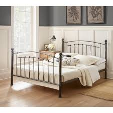 Pewter Bedroom Furniture Rest Rite Gia Antique Copper Chrome Queen Platform Bed Rr35420qn
