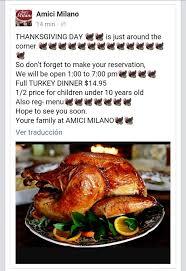 amici thanksgiving menu