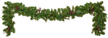 mixed pine battery operated led garland warm