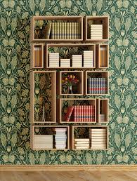 heraldic mielie pattern over bookshelf from quagga fabrics
