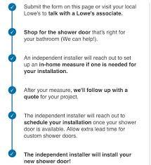 shower door installation from lowe s