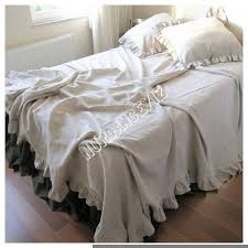 girls frilly bedding bedspread king queen bed spread ruffled bedding oatmeal beige