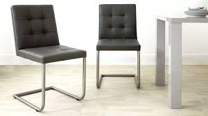 luxury contemporary dining chair leather modern gray leather