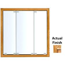 Mirrored Medicine Cabinet 3 Doors Furniture White Wooden Medicine Cabinets Having Curvy Mirror Door