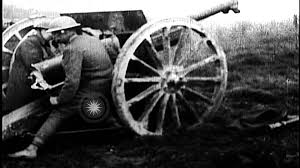 french 75mm us 128th field artillery firing french 75 mm guns at le cotes de