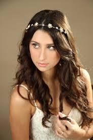 goddess headband bridal gold headband gold flower crown wedding headband bridal