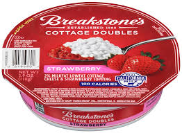 Cottage Cheese Low Fat by Breakstone U0027s 100 Calorie Strawberry Cottage Doubles Shop Cottage