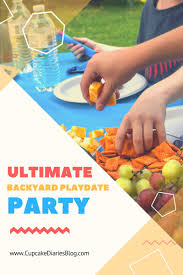 the ultimate backyard playdate party with free printable slime kit