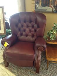 leather recliner lazyboy leather tufted back recliner 38