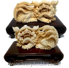 pictures of foo dogs mammoth ivory carving pair foo dogs