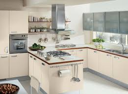 design elegant white kitchens with wooden countertops recessed