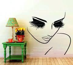 wall ideas zoom hair salon vinyl wall art hair salon wall art