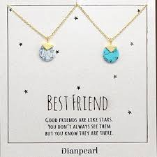 gold friend necklace images White and blue howlite gemstone necklace best friend jpg