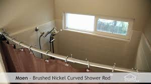 moen curved shower curtain rod youtube