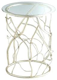 Glass End Tables Round Glass End Tables Cyan Design Twisted Love Round Glass Top