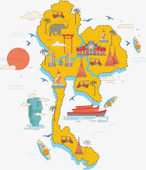thailand vector map thailand sightseeing map vector material travel abroad thailand