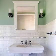 Marble Shelf Above Bathroom Sink Design Ideas