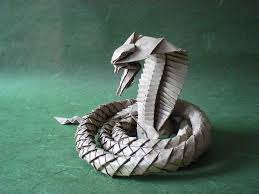 Origami Snake - i asped when i saw these origami snakes