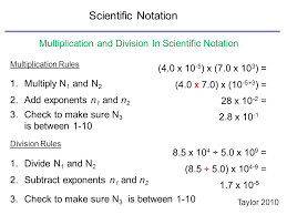 scientific notation multiplication and division worksheet grade