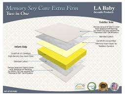 Soy Crib Mattress L A Baby 2 In 1 Memory Soy Foam Crib Mattress Firm