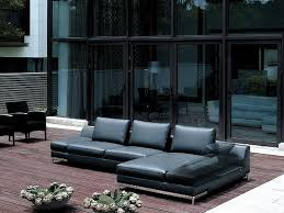 Chaise Lounge Sofa Leather by Sofas Dese Black Leather Chaise Lounge Sofa Sofa World