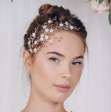 gold headpiece floral gold silver or gold bridal headpiece cherry by debbie