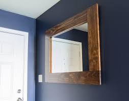 wood framed mirror tutorial