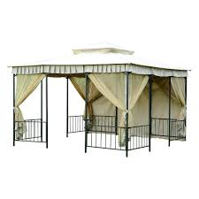 15 X 15 Metal Gazebo by Sunjoy 5 Ft X 8 Ft Soft Top Grill Gazebo 110103014 The Home Depot