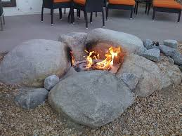 Firepit Rock Rock Pits You Will To In Your Backyard