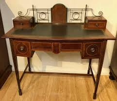 Small Mahogany Desk Small Antique Edwardian Mahogany Desk The Merchant Of Welby
