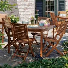 Outside Table And Chair Sets Solidood Outdoor Patio Dining Setith Square Table And Folding