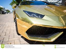 car lamborghini gold gold lamborghini huracan 2016 editorial stock photo image 68765463